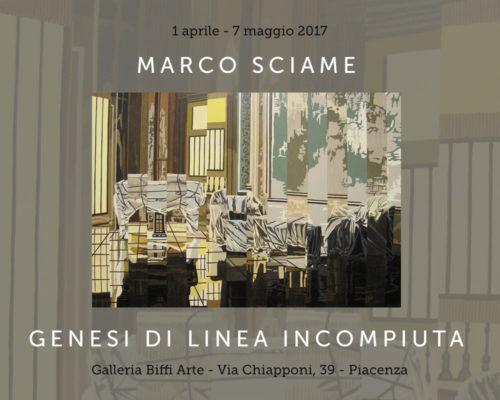 Marco Sciame in mostra da Biffi Arte, aprile 2017