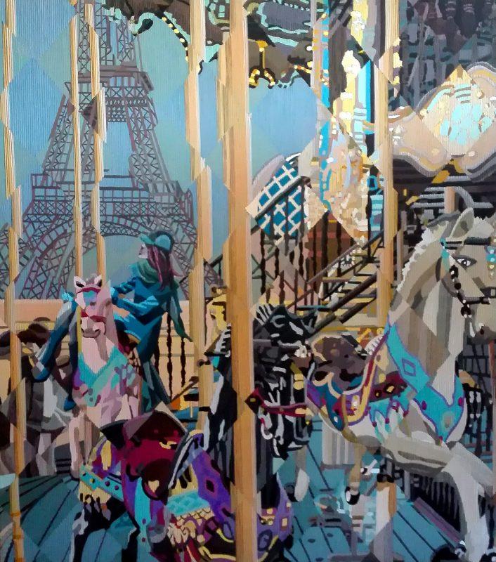 Giostra a Parigi 80x90 - Marco Sciame